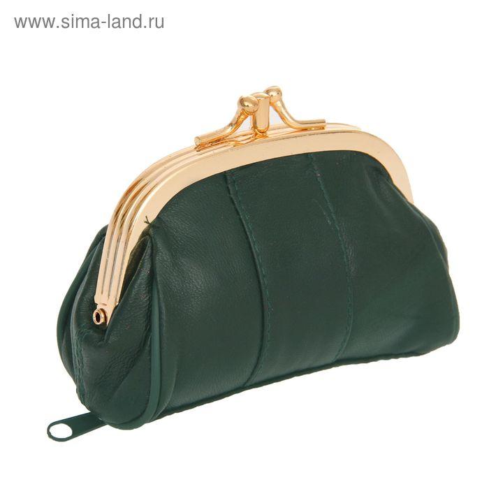 """Косметичка-ассорти """"Анабель"""", 2 отдела, наружный карман, цвет темно- зеленый"""