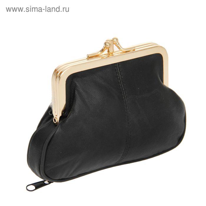 """Косметичка-ассорти """"Анабель"""", 2 отдела, наружный карман, цвет черный"""