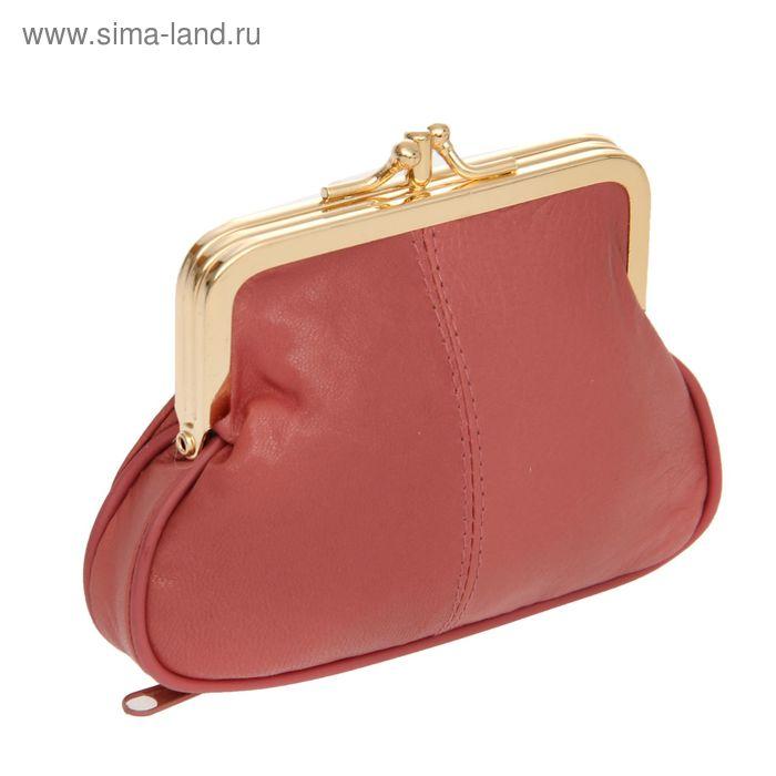 """Косметичка-ассорти """"Анабель"""", 2 отдела, наружный карман, цвет брусничный"""
