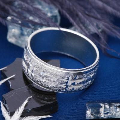 """Кольцо """"Рифлёное"""" размер МИКС цвет серебро"""