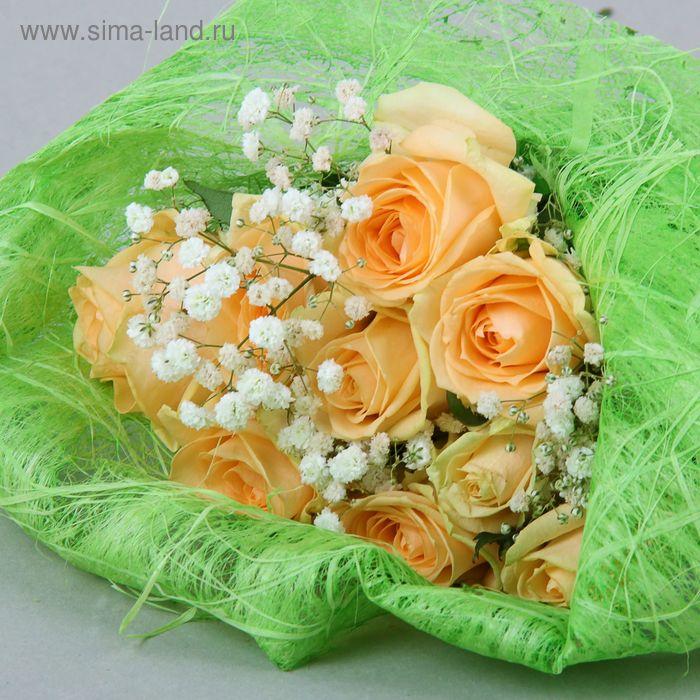 Салфетка для декора и цветов квадратная 48х48 см салатовый