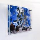 """Часы настенные, серия: Море, """"Штурвал и яхта на песке"""", 25х35  см, микс"""