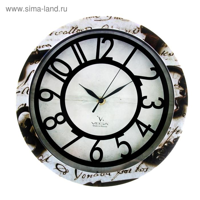 """Часы настенные круглые """"Письмо"""", рисунок на ободе, 28х28 см"""