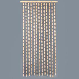 """Эко-занавеска деревянная """"Спилы"""", 180 х 80 см, спил сосны"""