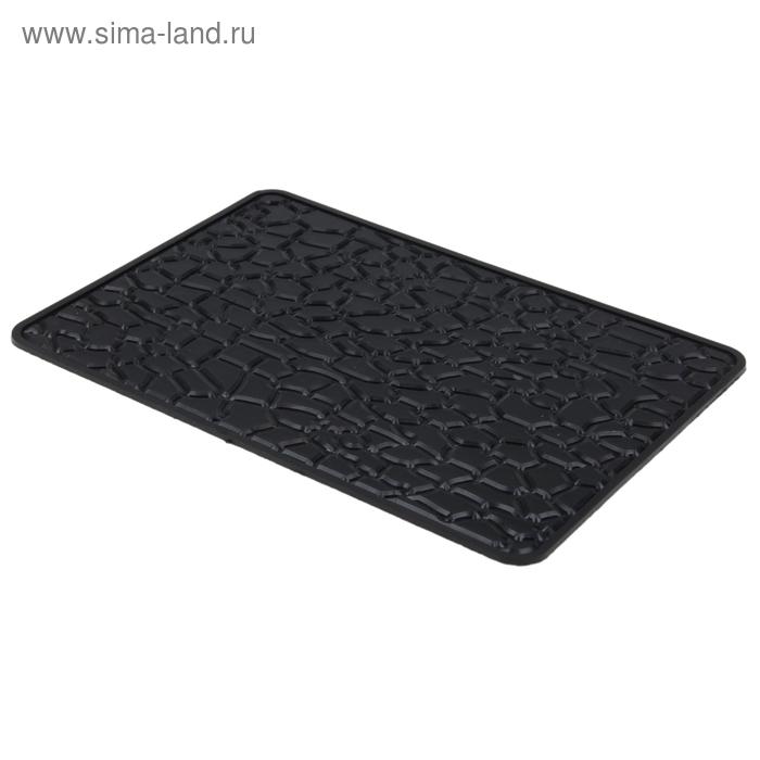 Коврик противоскользящий, 20х13 см, черный