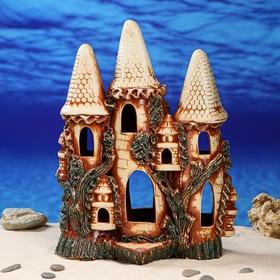 """Декорация для аквариума """"Замок тройной'', 16 х 31 х 40 см, микс"""