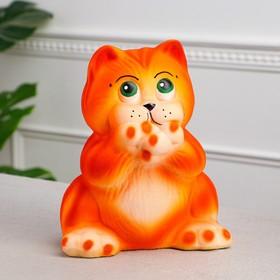 """Копилка """"Кот Гарфи"""", флок, оранжевая, 25 см"""