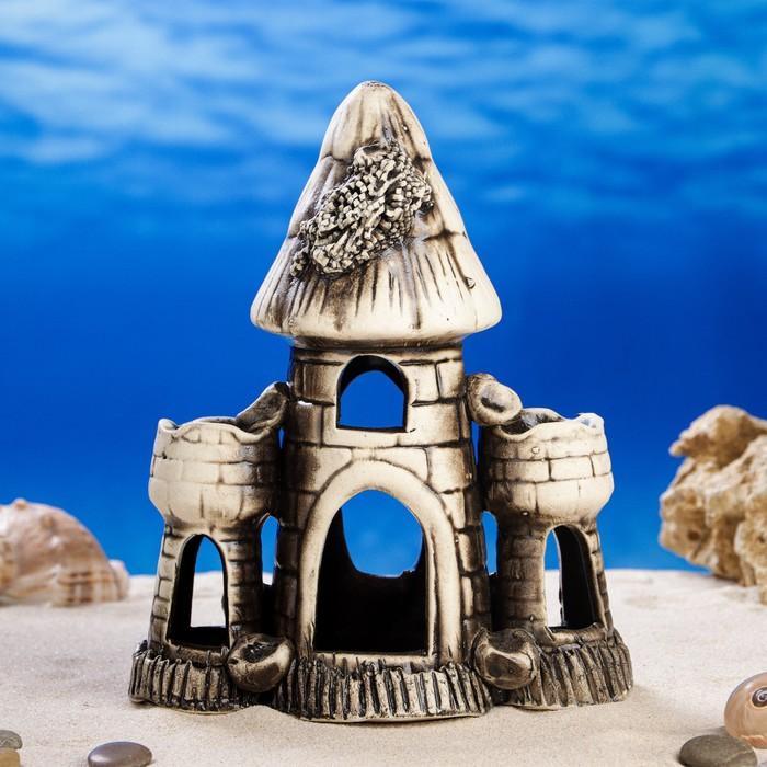 "Декорация для аквариума ""Башня острая тройная'', 9 х 17 х 21 см, микс"
