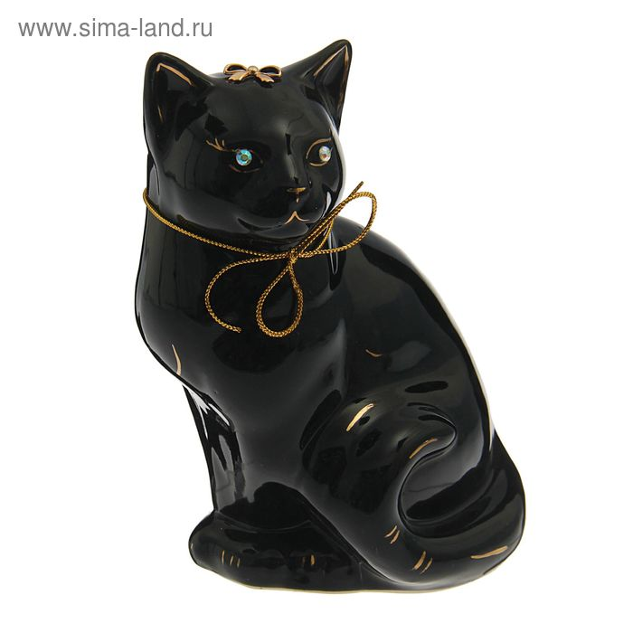 "Копилка ""Кошка Мурка"" глянец, чёрная"