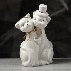 """Копилка """"Жених и невеста"""", покрытие глазурь, белая, 27 см"""