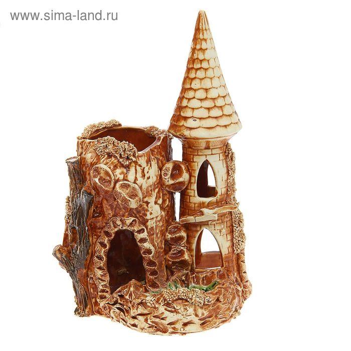 """Декорации для аквариума """"Башня с гротом"""""""