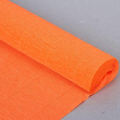 """Бумага гофрированная, 581 """"Неоновый оранжевый"""", 0,5 х 2,5 м"""