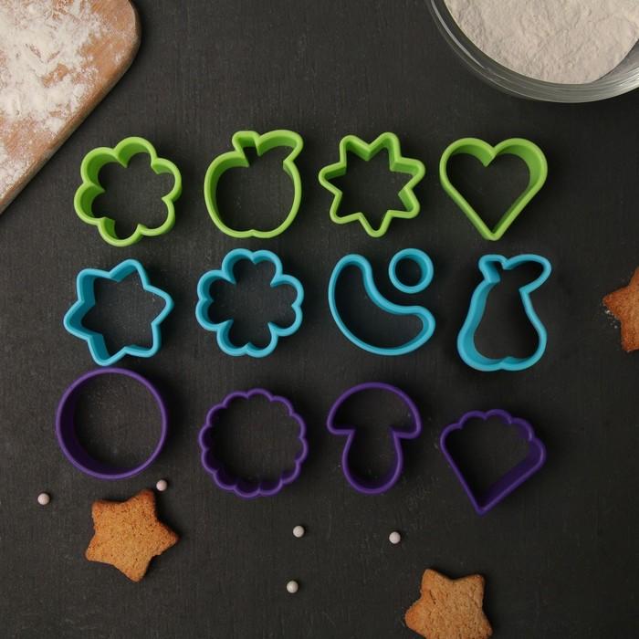 Набор форм для вырезания печенья «Фанты», 13 шт, h=1,8 см, цвет МИКС