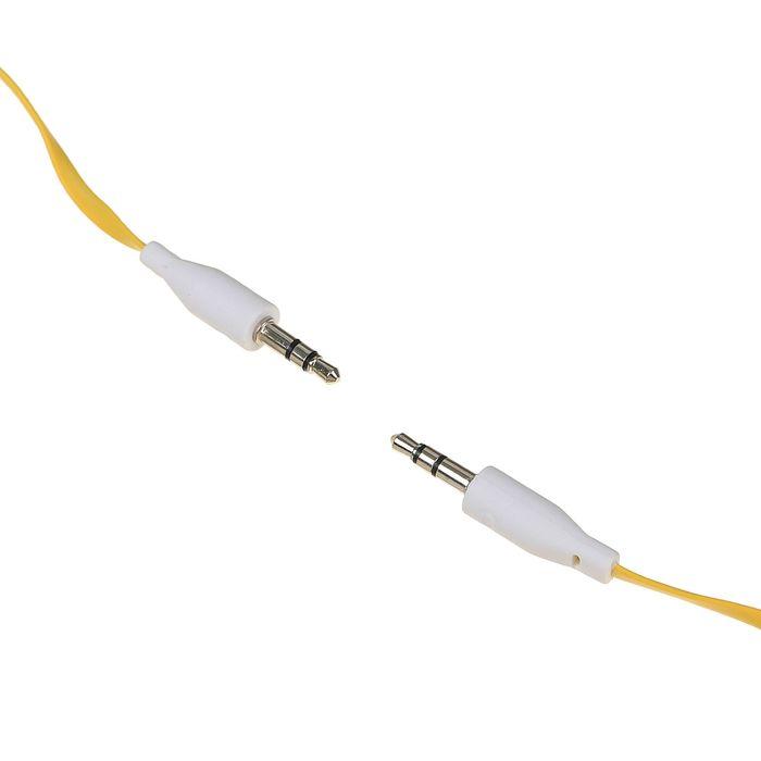 Провод аудио штекер Jack 3,5 - 3,5, плоский, 1м, МИКС