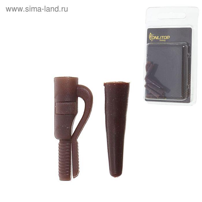 Безопасная клипса с конусом Mini Brown (набор 5 шт.)