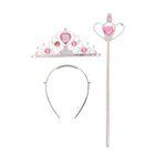 """Карнавальный набор """"Принцесса"""", 2 предмета: корона, жезл, цвета МИКС"""