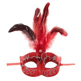 Карнавальная маска «Сияние», с перьями, цвета МИКС