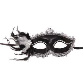 Карнавальная маска «Мгла», с перьями