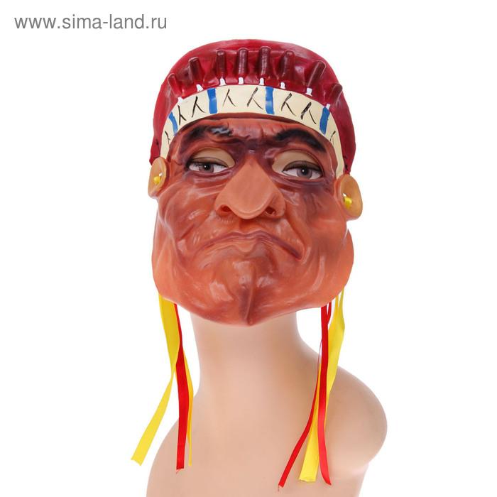 """Карнавальная маска латекс """"Индеец"""" на резинке"""