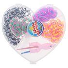 Резиночки для плетения, набор из 4-х двухцветных видов по 100 шт., пяльцы, 2 крючка, крепления, МИКС