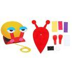 Набор для творчества - создай улитку из воздушного шарика и фетра, цвет красный
