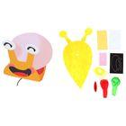 Набор для творчества - создай улитку из воздушного шарика и фетра, цвет желтый
