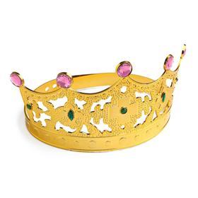 Корона с камнями «Царица» цвет золотой