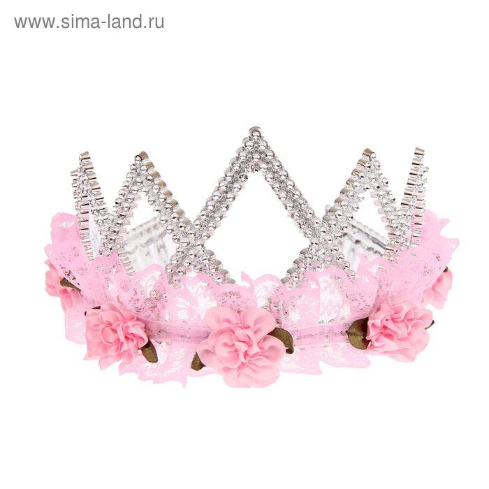 """Корона с кружевами и цветами """"Ваше высочество"""""""