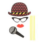 """Карнавальный набор для фотосессии """"Солист"""", 4 предмета: шляпа, очки, губы, микрофон"""