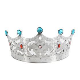 Корона с камнями «Царевна», цвет серебряный в Донецке