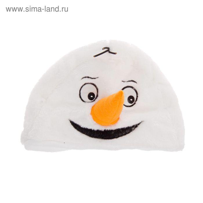 """Карнавальная шляпа """"Снеговик с морковкой"""""""