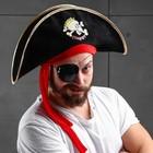 """Шляпа пирата """"Пират"""" веселый череп"""