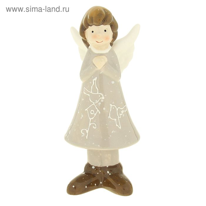 "Сувенир ""Ангелок в платье с птичкой"""