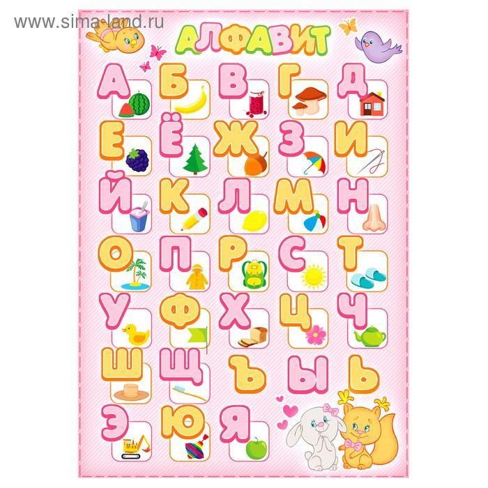 """Плакат """"Алфавит для девочек""""  А4"""