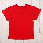 Футболка детская, рост 104 см, цвет красный Н004