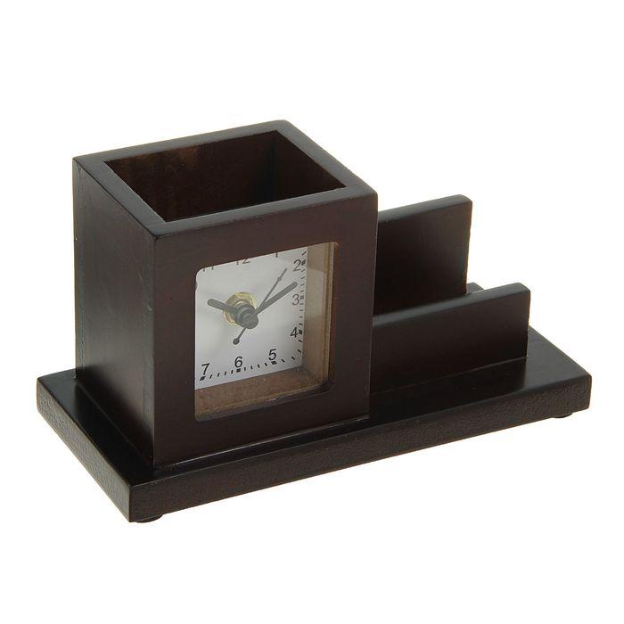 Набор настольный «Дерево»: часы, визитница, подставка для ручек