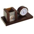 Набор настольный «Лаконичность»: часы, подставка для ручек, фоторамка
