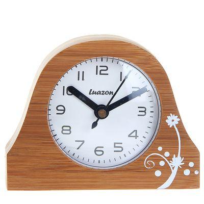 """Часы настольные """"Который час"""", бамбук, 13х9.5 см"""