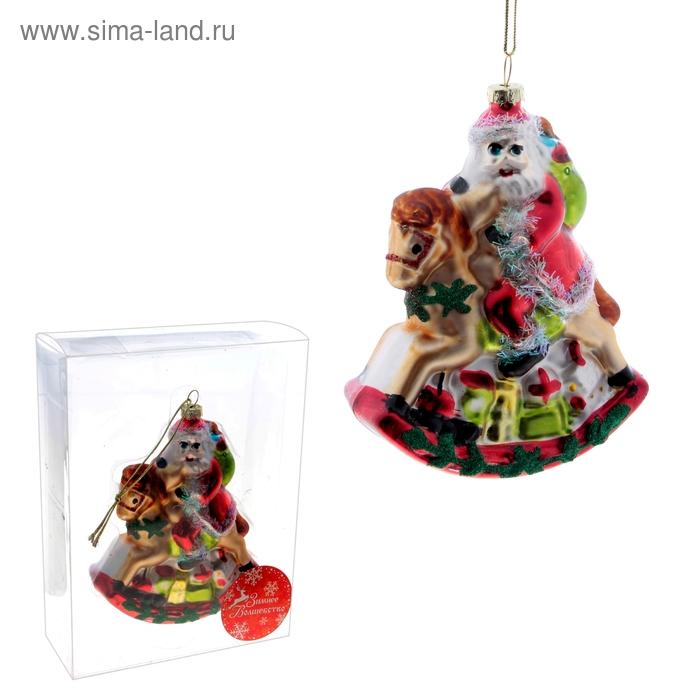 "Ёлочная игрушка ""Дед Мороз на лошадке"""