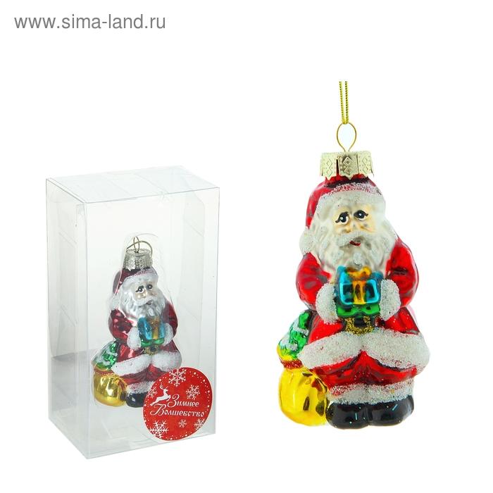 "Ёлочная игрушка ""Дед Мороз с подарками"""