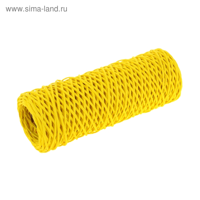 Шпагат декоративный желтый 0,4 см х 100 м