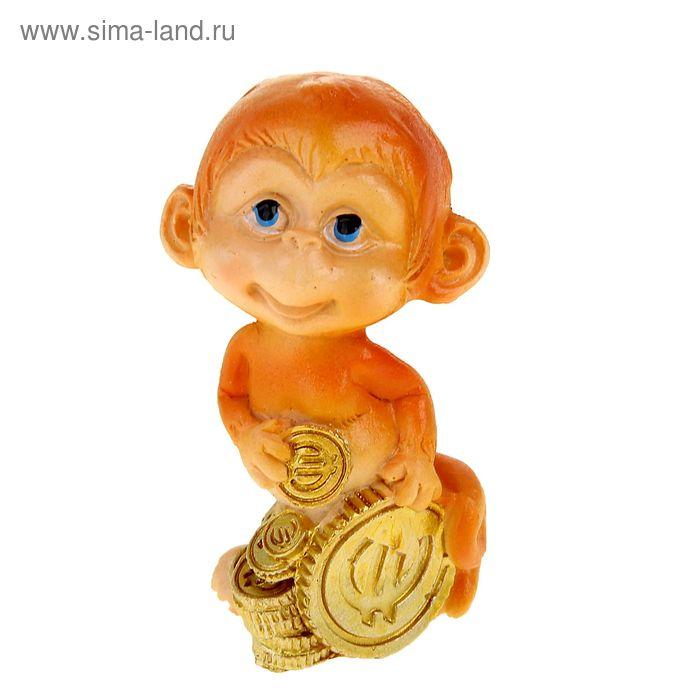 "Сувенир ""Малыш обезьянка с монетами"" МИКС"