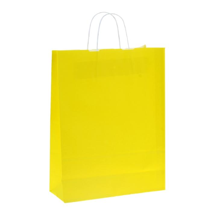 """Пакет крафт """"Радуга"""" лимонный, 32 х 12 х 42 см"""