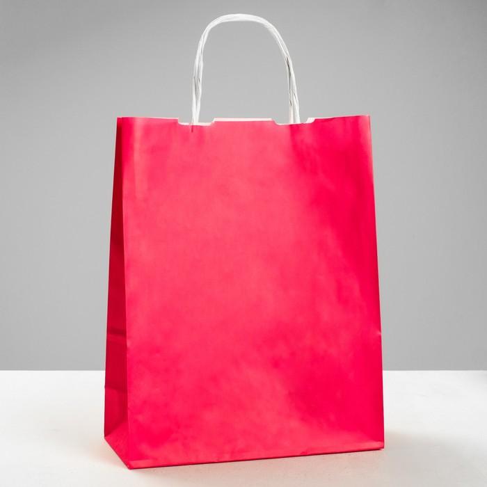 """Пакет крафт """"Радуга"""" розовый, 25 х 11 х 32 см"""