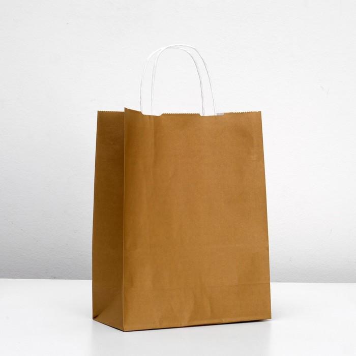 "Пакет крафт ""Радуга"" капучино, 25 х 11 х 32 см"