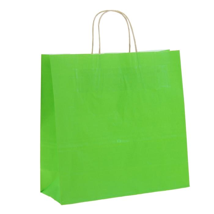 """Пакет крафт """"Радуга"""" травяной, 32 х 12 х 32 см"""