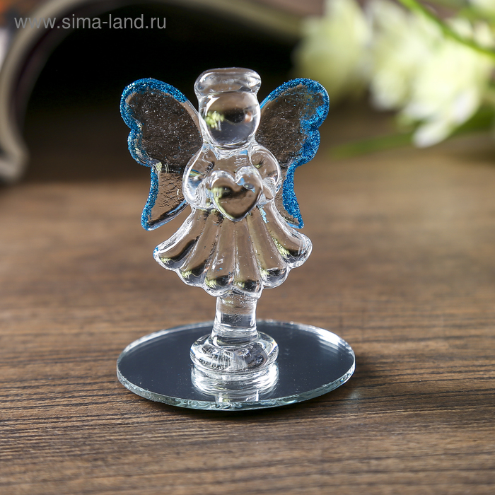 "Сувенир-ангел ""С цветочком"" на зеркале"