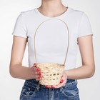Basket, wicker, bamboo, natural color, (cylinder), the average