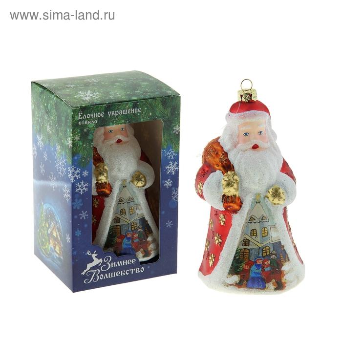 """Новогодняя игрушка """"Дед Мороз"""" (роспись)"""