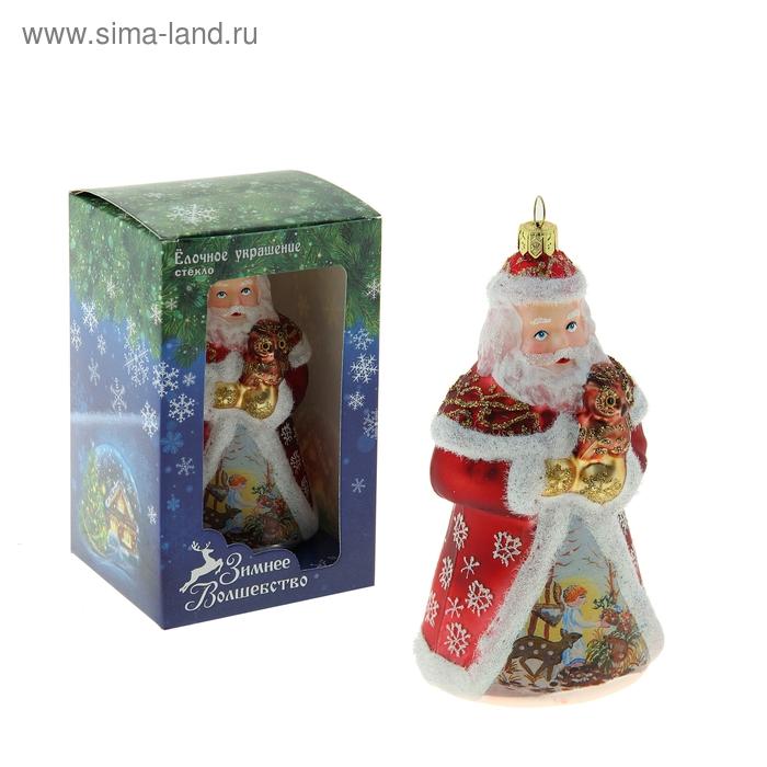 """Новогодняя игрушка """"Дед Мороз"""" (роспись с ангелами)"""